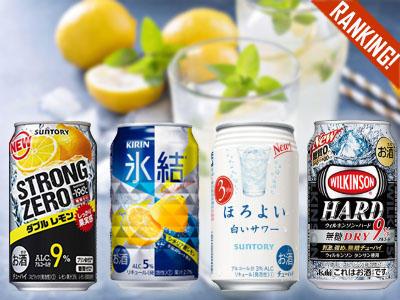 消費者調査データ<br>RTD(2019年1月版)<br>ストロングゼロ、ウィルキンソン。<br>高アルコールは定番の氷結、ほろよいを超えるか