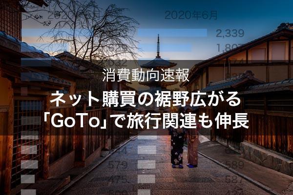 特集:コロナ禍の消費を読む 裾野広がるネット購買 「GoTo」で旅行関連支出も伸びる
